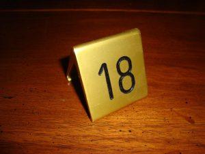 Tafelnummer Bistro